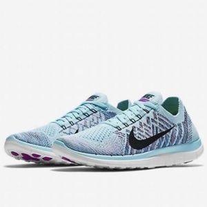 Nike Flyknit 4.0 in light blue